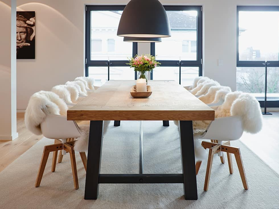 Penthouse esszimmer von honeyandspice innenarchitektur for Designer tische esszimmer