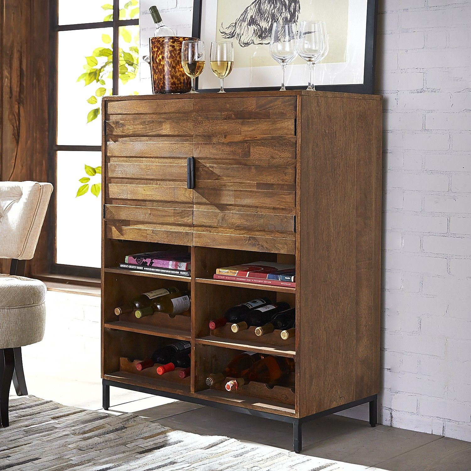 Industrial Bar Cabinet Pierce Java Bar Cabinet Brown Cabinets And Irons