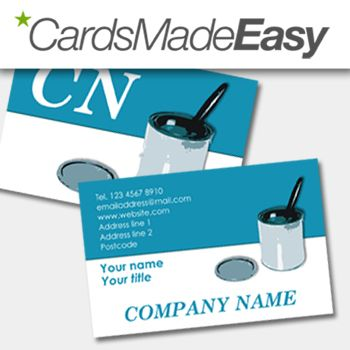A Professional Business Card Template From Cardsmadeeasy Painter