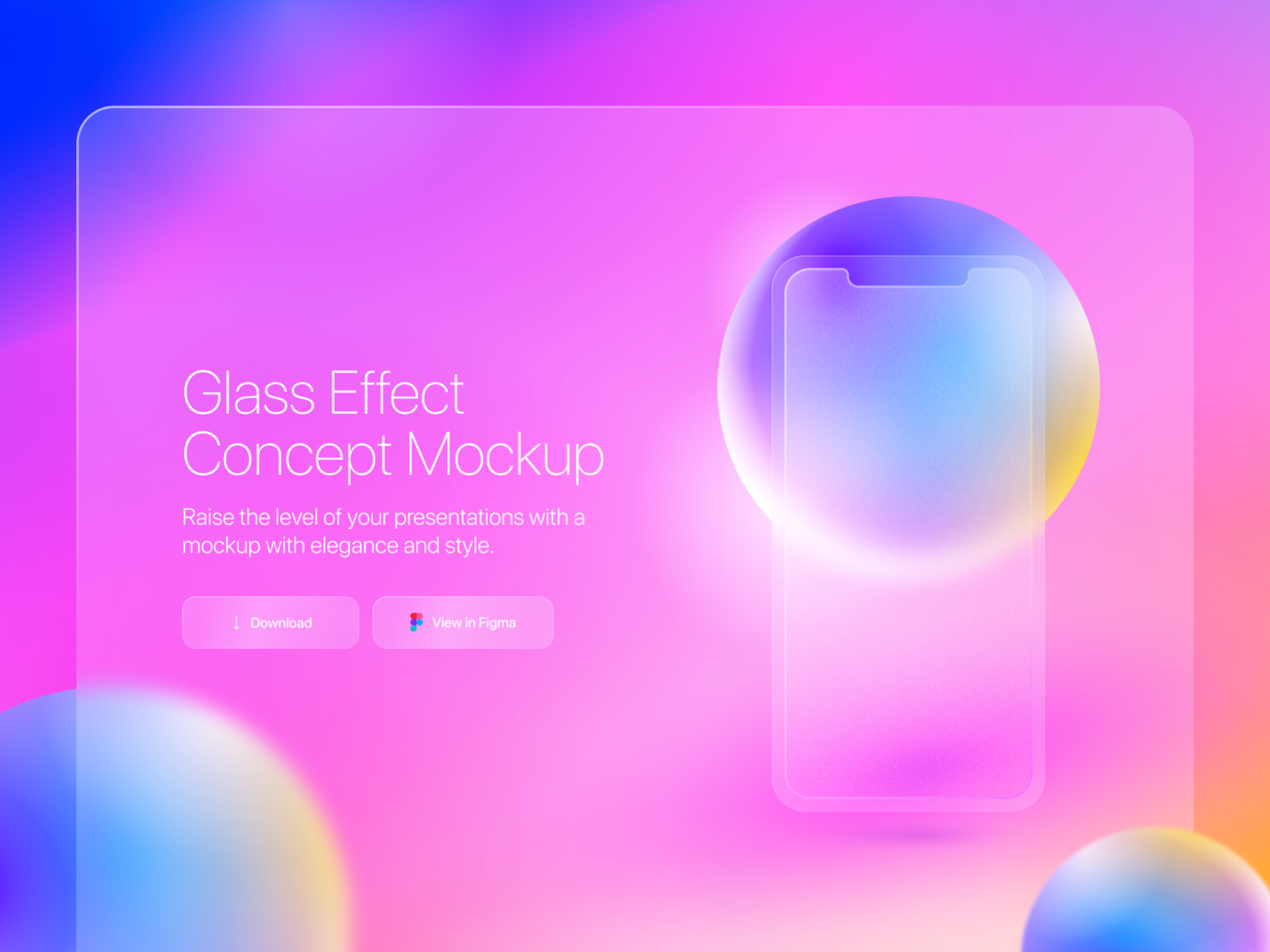 Glass Effect Concept Mockup By Umpontoseis On Dribbble In 2021 App Design Layout Graphic Design Logo Mood Board Design