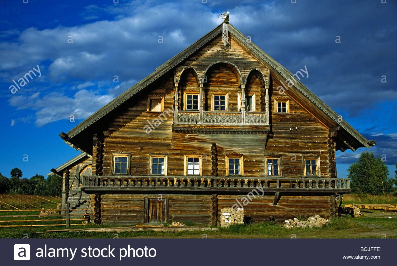 Traditional Russian Wooden Houses 19th Early 20th Century