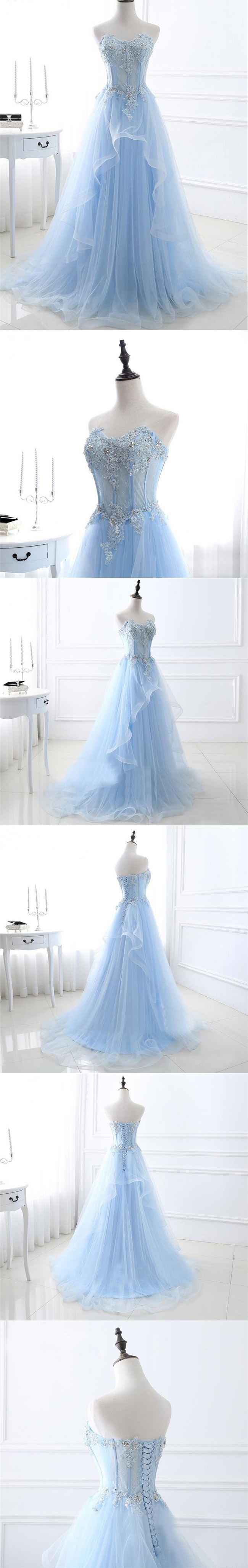 Chic prom dresses sweetheart aline floorlength sexy prom dress