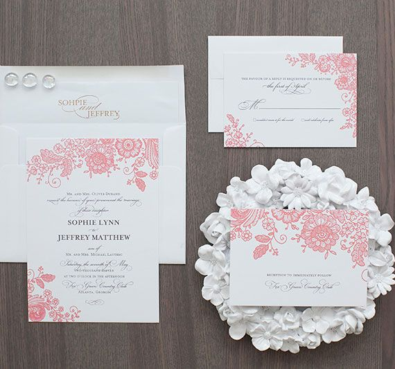 17 Best images about Wedding Invitations Formal – Vintage Wedding Invitations Lace