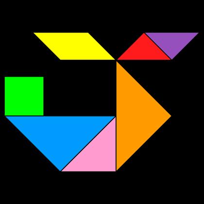 tangram helicopter 3   figuras con tangram, matemáticas