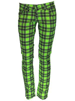 Jist Emo Lime Green Tartan Skinny Jeans | The o'jays, Emo and ...