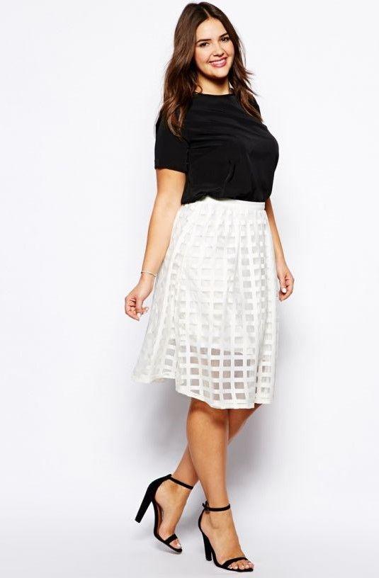 5fd27e890 Faldas para gorditas ¡15 FANTÁSTICOS MODELOS! | Stunning clothing ...