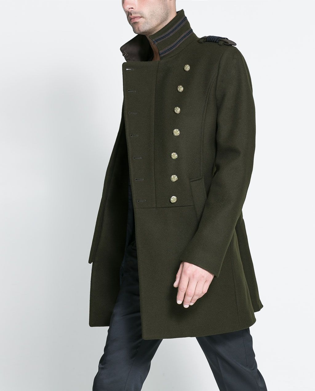 ZARA - NEW THIS WEEK - MILITARY STYLE COAT | Ropa de