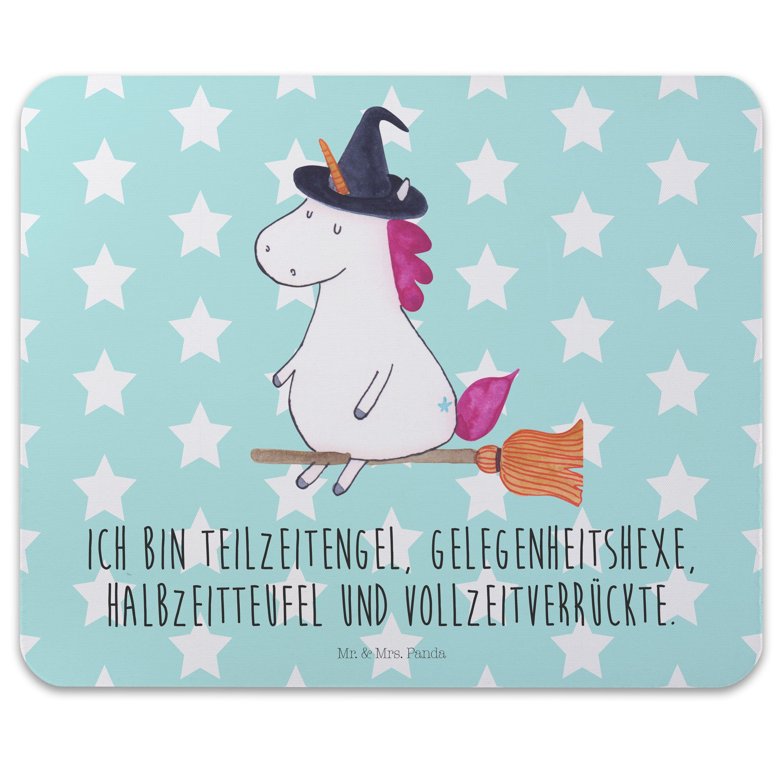 Mauspad Druck Einhorn Hexe aus Naturkautschuk  black - Das Original von Mr. & Mrs. Panda.  Ein wunderschönes Mouse Pad der Marke Mr. & Mrs. Panda. Alle Motive werden liebevoll gestaltet und in unserer Manufaktur in Norddeutschland per Hand auf die Mouse Pads aufgebracht.    Über unser Motiv Einhorn Hexe  Das Hexen-Einhorn ist das perfekte Einhorn für diejenigen, die alles andere sind als langweilig. Manchmal Hexe, manchmal Engel, manchmal Teufel. So bleibt das Leben spannend.     Verwendete…