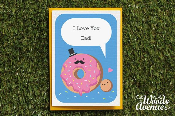 Birthday Card Food Puns ~ I love you dad card father's day daddy dad cute by thewoodsavenue