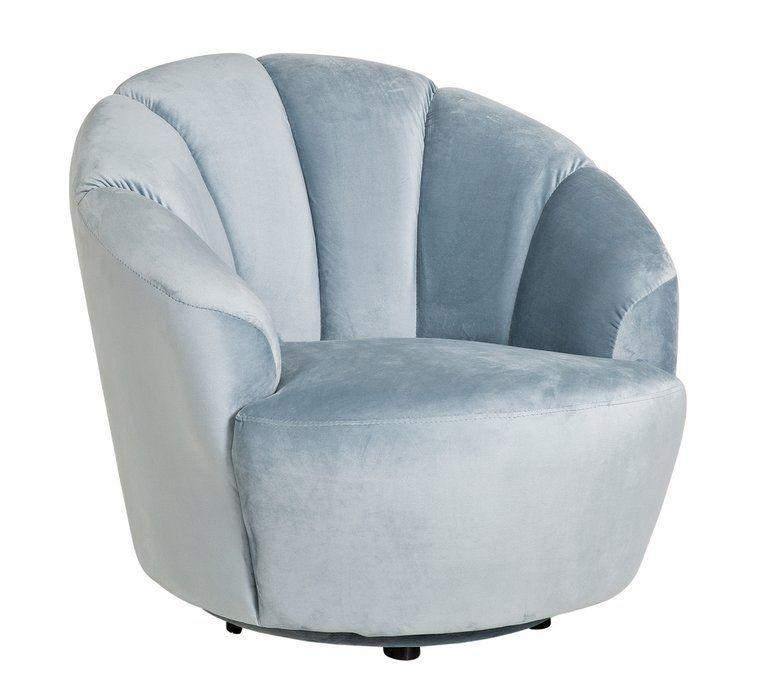 Buy Argos Home Ezra Velvet Swival Chair Light Blue Armchairs