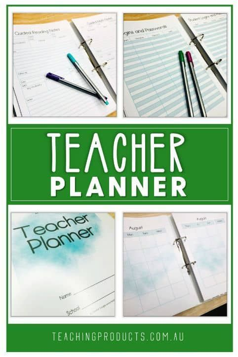 A Teacher Planner From a Forgetful Teacher #teacherplannerfree Do you constantly forget important teaching tasks? Do you need one place to keep track of everything related to teaching? This handy FREE planner has it all - planning pages, record keeping, assessment tracking, birthdays, medications, and much more! #teacherplannerfree