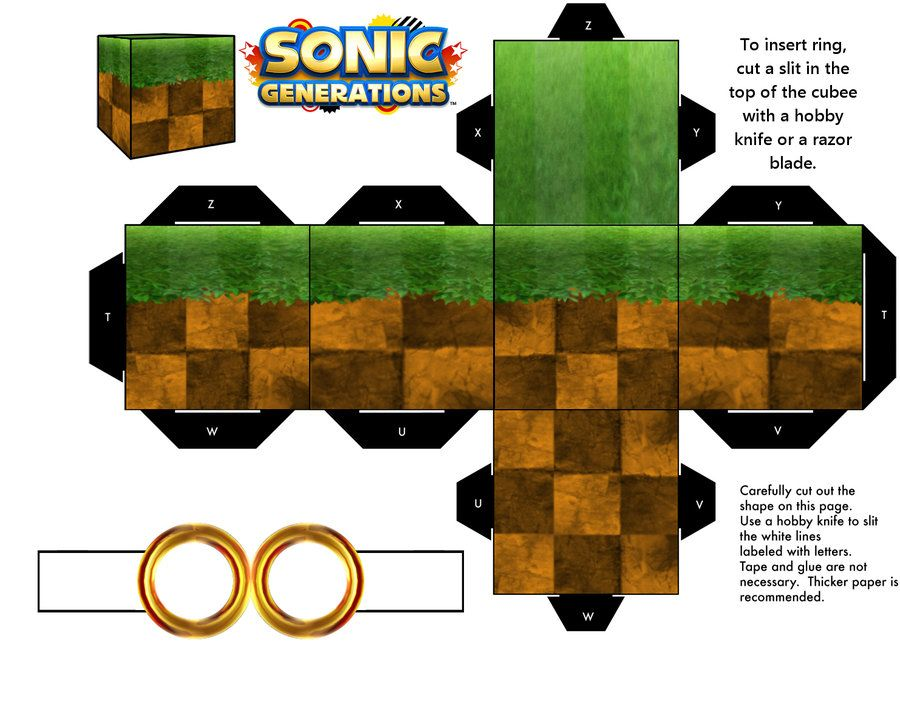 Sonic Green Hill Zone Generations Ground Block Sonic Party Sonic Happy Birthday Drawings
