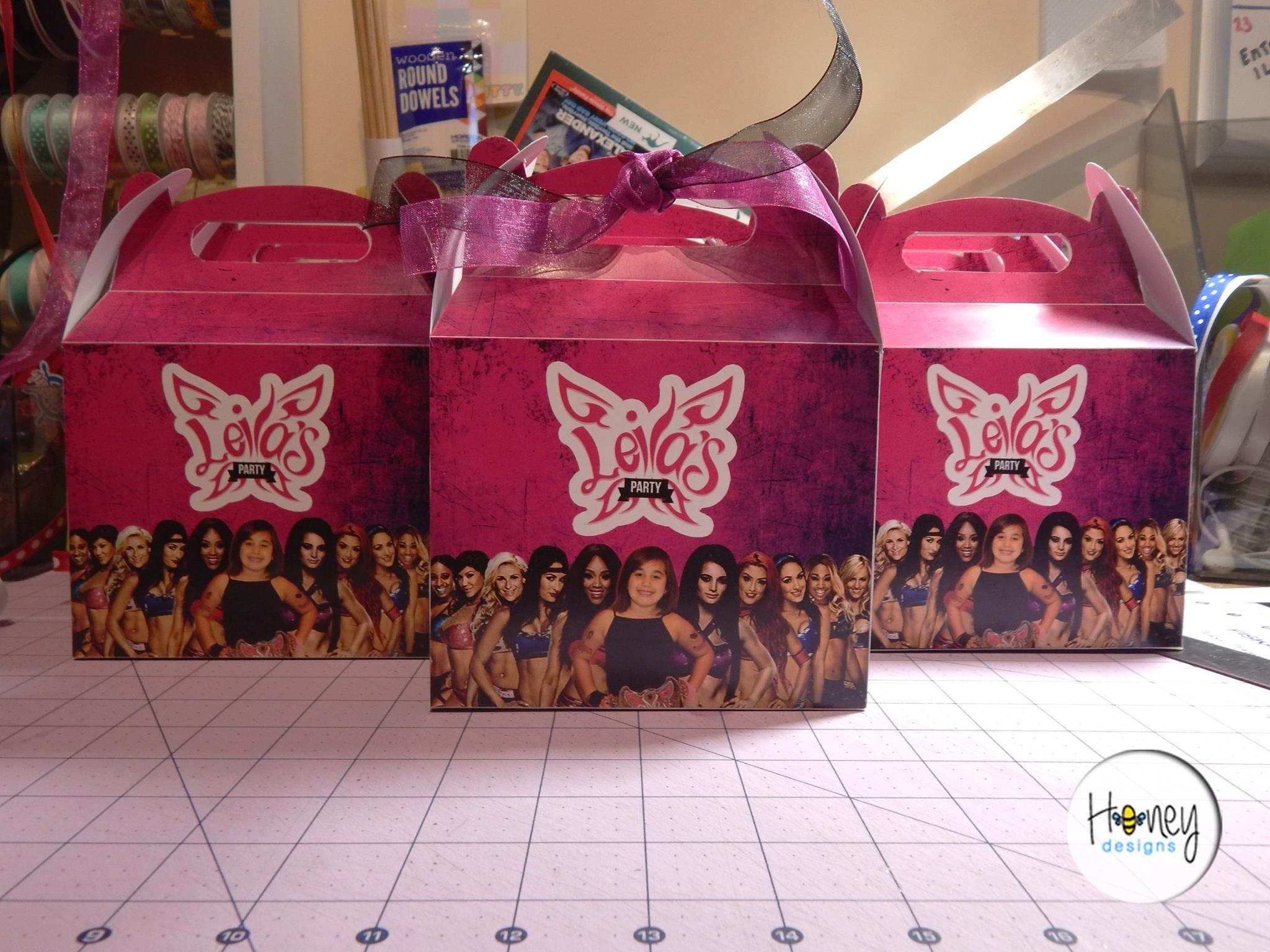 WWE Divas Party Goodie Boxes Party Pinterest Diva party
