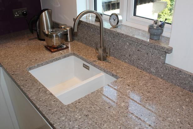 Silestone alpina white undermount sink cut out with for Silestone sink