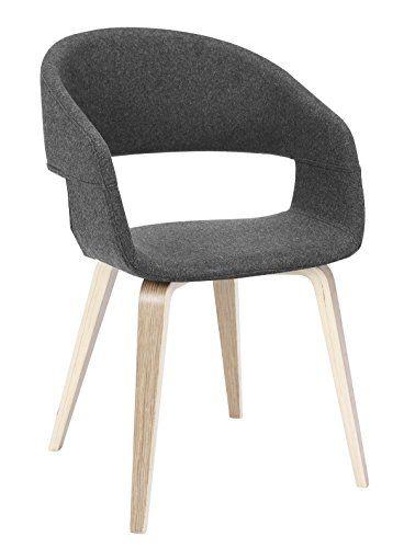 designbotschaft: luzern stuhl grau/ eiche - esszimmerstühle 1 stck, Esszimmer dekoo