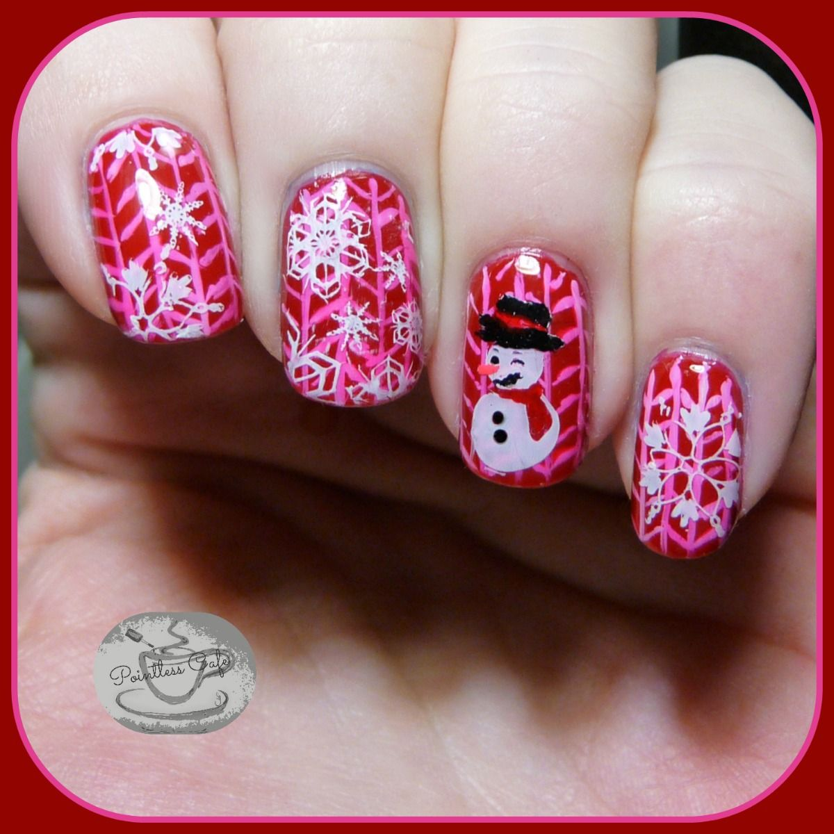 holiday sweater nail art a nailart fingern gel. Black Bedroom Furniture Sets. Home Design Ideas
