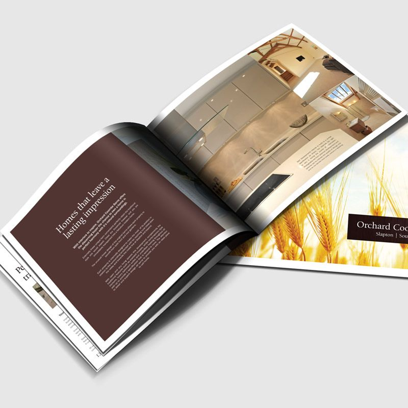 A4 Landscape Brochure Design with superb warm colour palette - landscape brochure