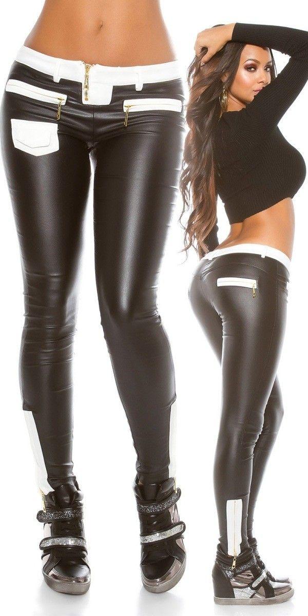 Dámské legínové kalhoty černé  549c0ef6fd