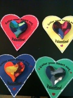 Whimsically Homemade: Crayon Heart Valentines #crayonheart