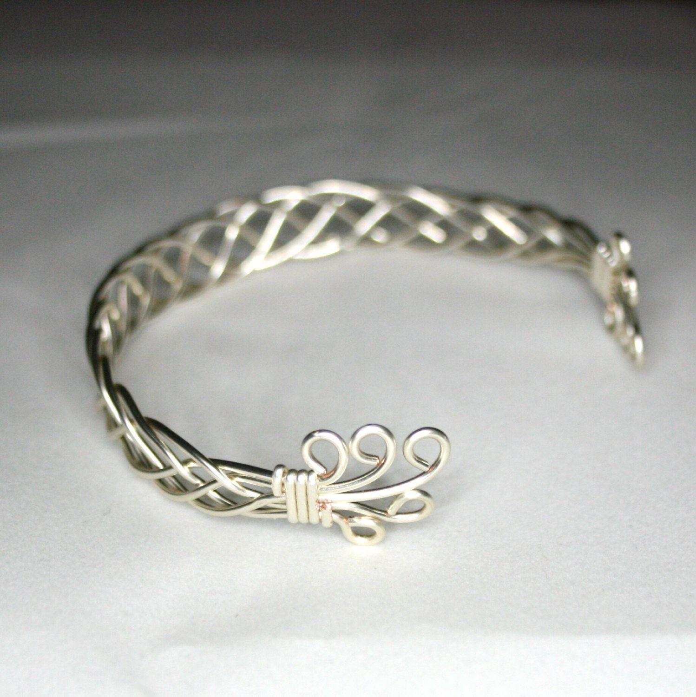 Karen - A Celtic Weave Bracelet, Wire Wrapped Bracelet, Wire Wrapped ...