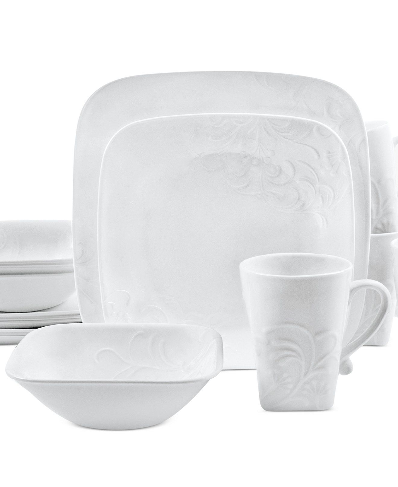 Boutique Cherish Embossed Square 16-Pc. Set, Service for 4 | Home Sweet  Home | Pinterest | Dinnerware, Corelle dishes and Dining.