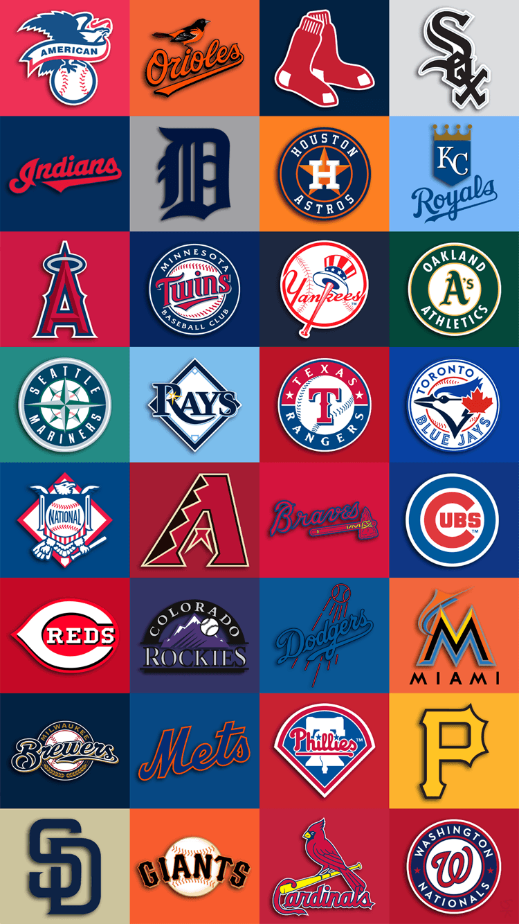 750x1334 Mlb Team Logos Iphone 6 Wallpaper 750x1334 Mlb Wallpaper Baseball Wallpaper Mlb Logos