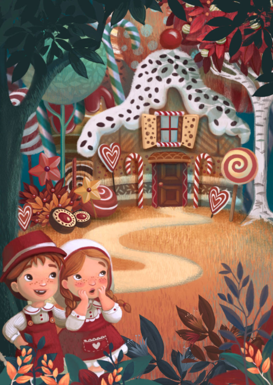 Hansel Gretel Anita Barghigiani Princess Illustration Fairytale Illustration Fairytale Art