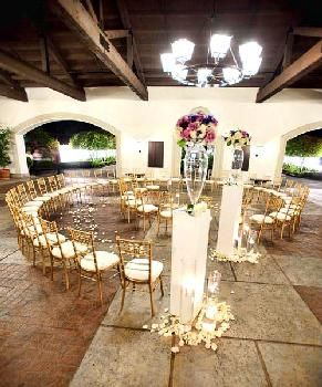 Circular Spanish themed indoor setting