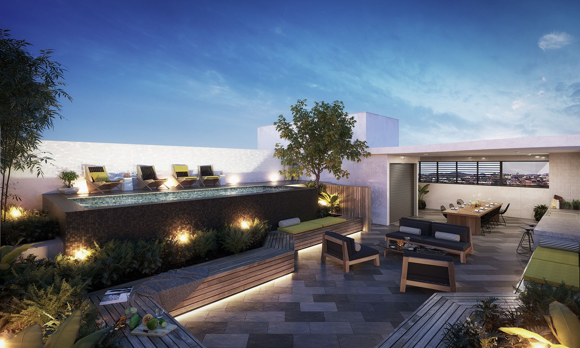 Argentum Renders Rooftop Apartment Living Multi Residential