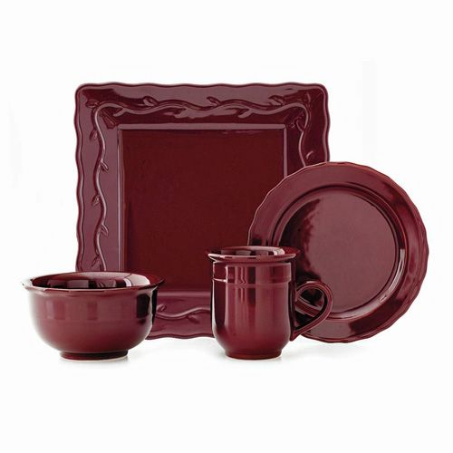 Celebrating Home Berry Square dinnerware set. You can order this with either square dinner plates or round whichever suits your style.  sc 1 st  Pinterest & BERRY SQUARE DINNERWARE SET - SET OF 16 Complete set of Berry ...