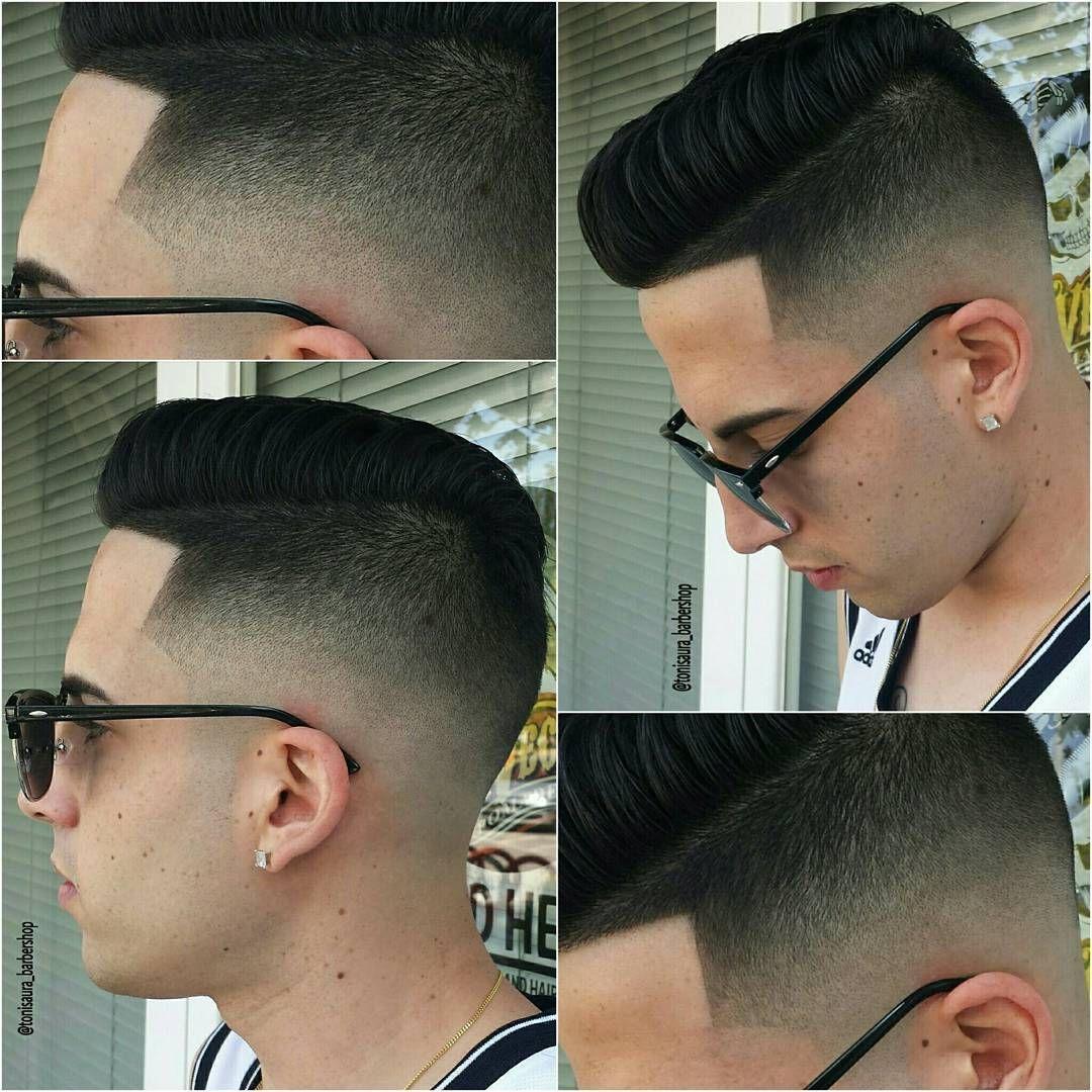 Tonisaurabarbershop Cool Short Mens Haircut Pompadour Mens Hair