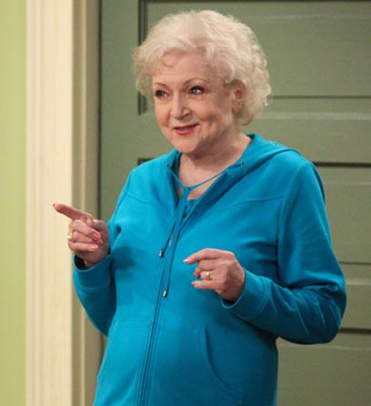 Hot in Cleveland - Betty White  Elka fled from the Nazis, made it to Cleveland and likes to hang out in her room in this teal tracksuit.