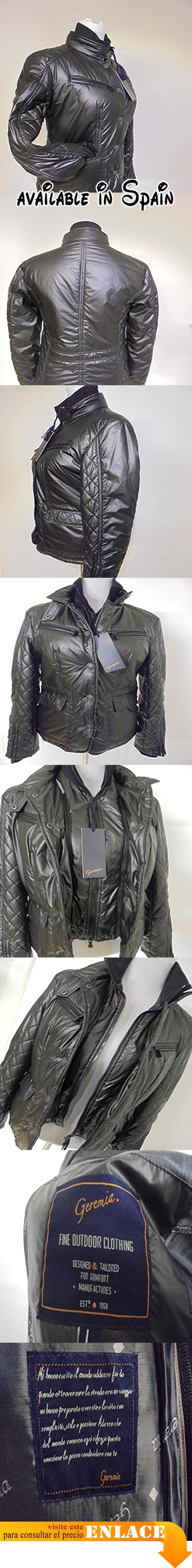 B01986VLJ0 : GEREMIA - Abrigo impermeable - Manga larga - para mujer negro Large.