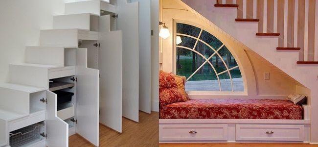 Aprovechar el hueco de las escaleras o los propios escalones Para ...