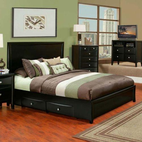 Alpine Furniture Laguna Storage Bed - Dark Espresso - Platform ...