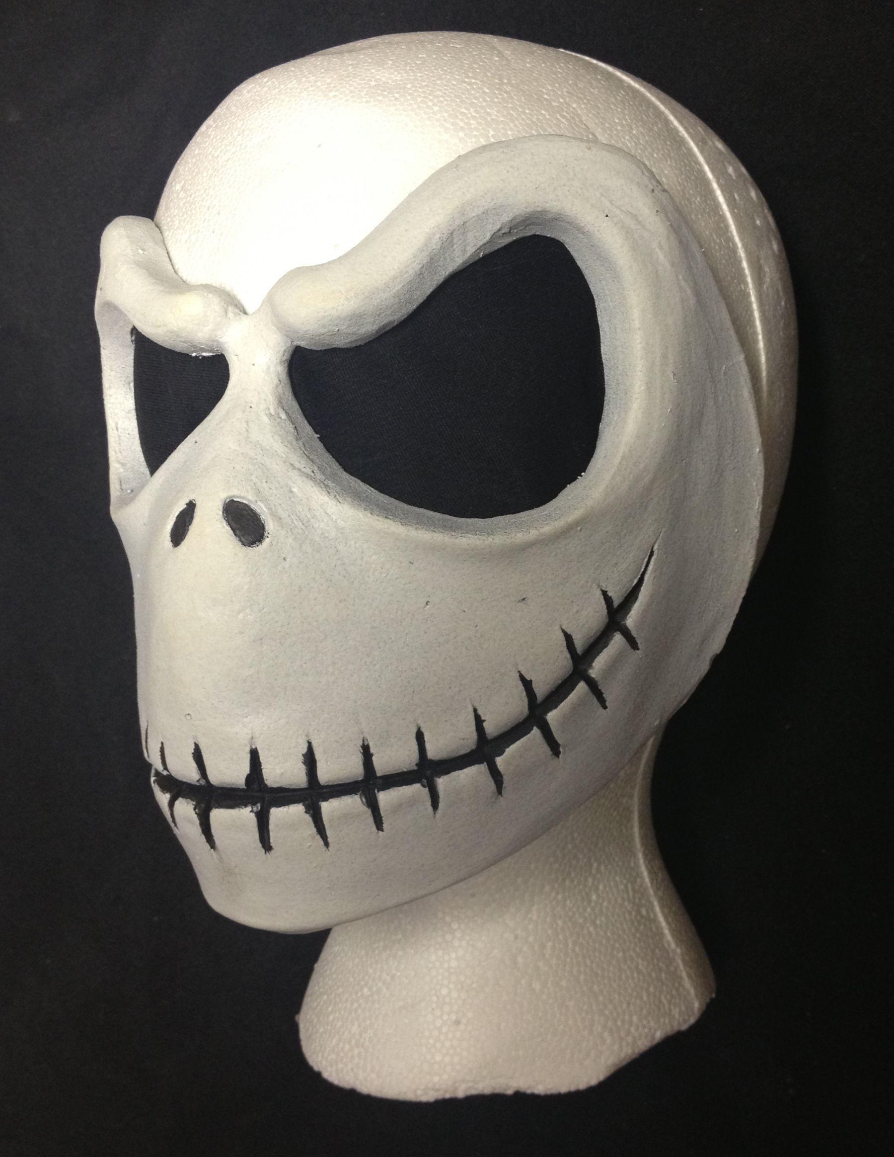 Malmey Studios Jack Skellington Face Mask Prosthetic! This