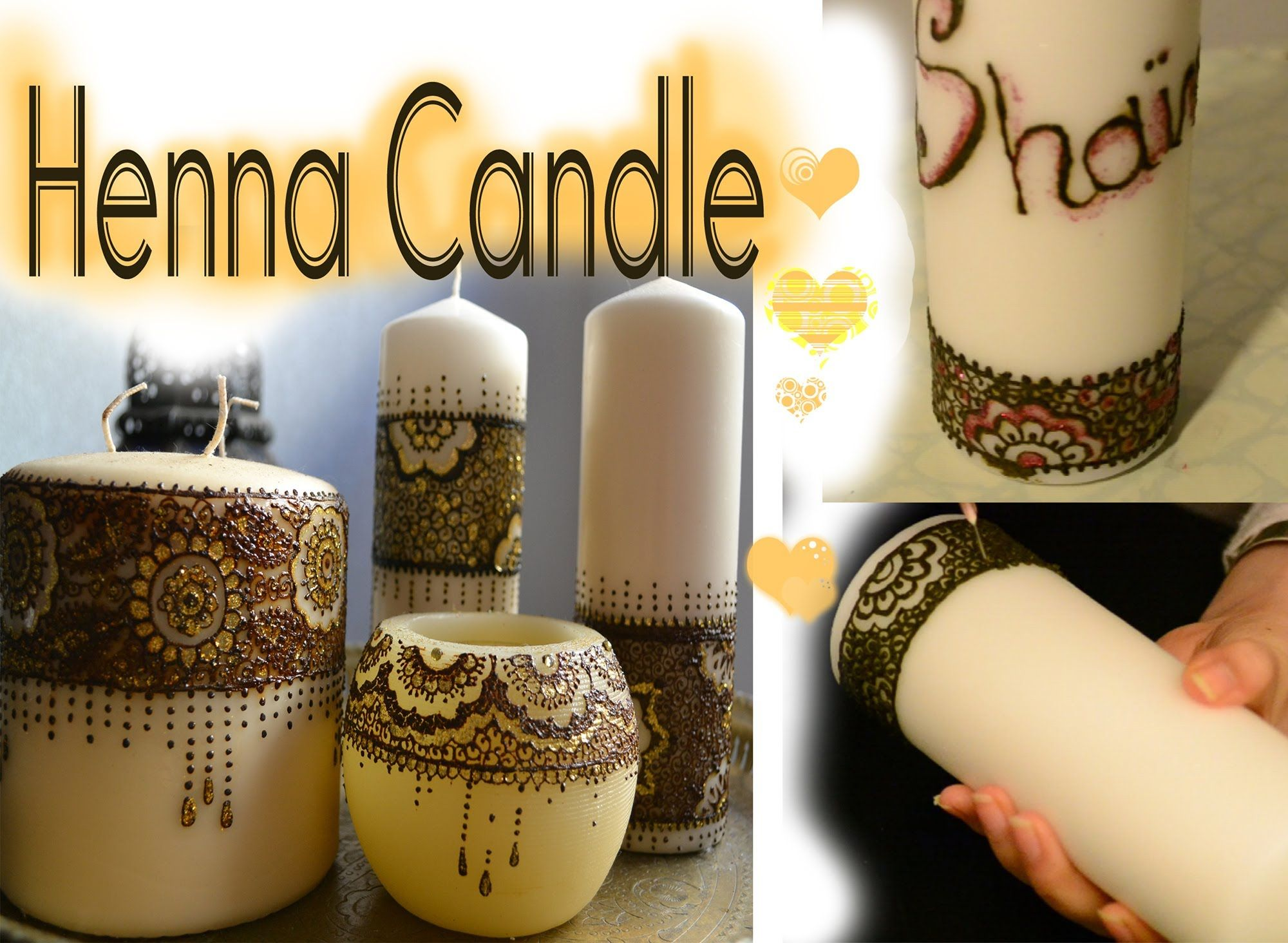 Making Henna Candle Bougie Personnalis E En Henn Youtube Deco