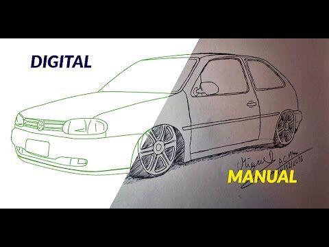 Como Desenhar Carros Volkswagen Gol 2 Rebaixado Passo A Passo
