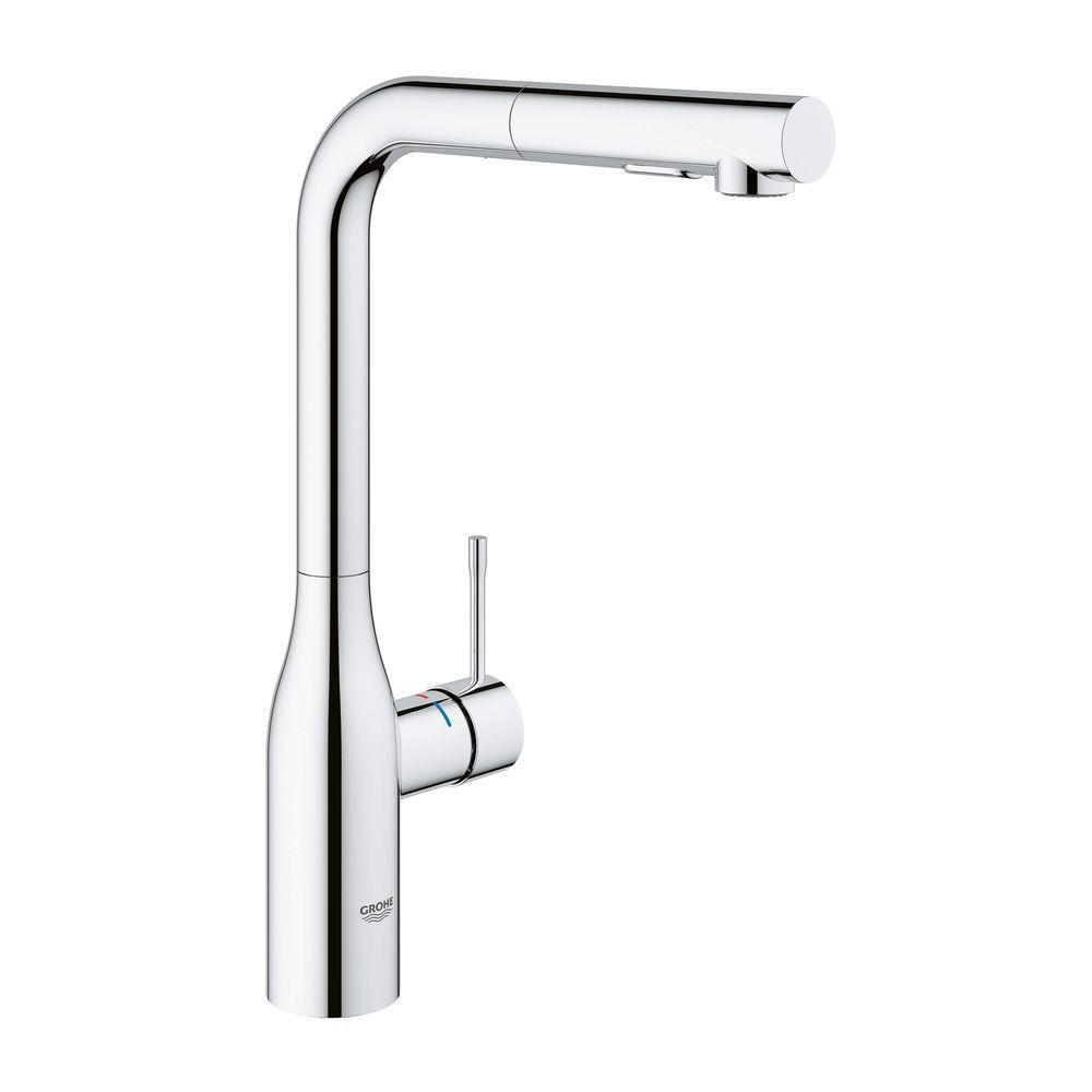 GROHE Essence New Single Hole Single Handle Bathroom Faucet With Dual Spray  In StarLight Chrome