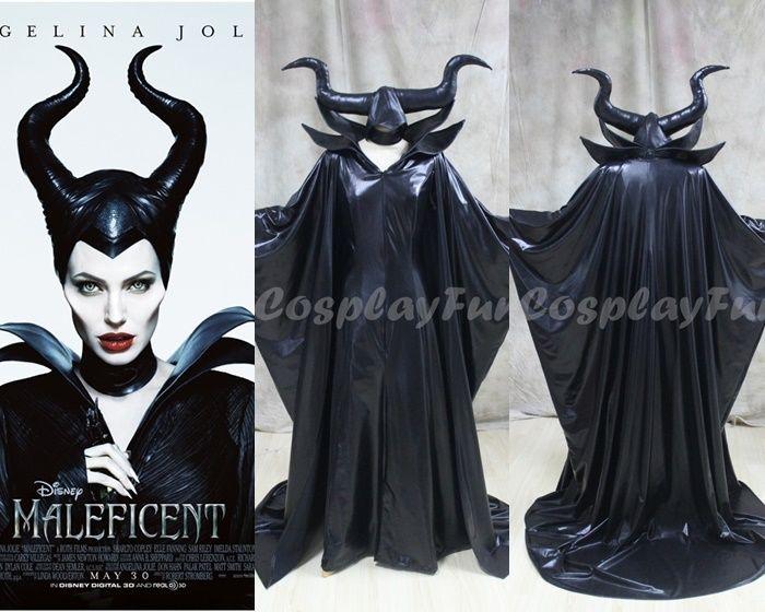 Disney Maleficent Movie Angelina Jolie Womens Cosplay Dress