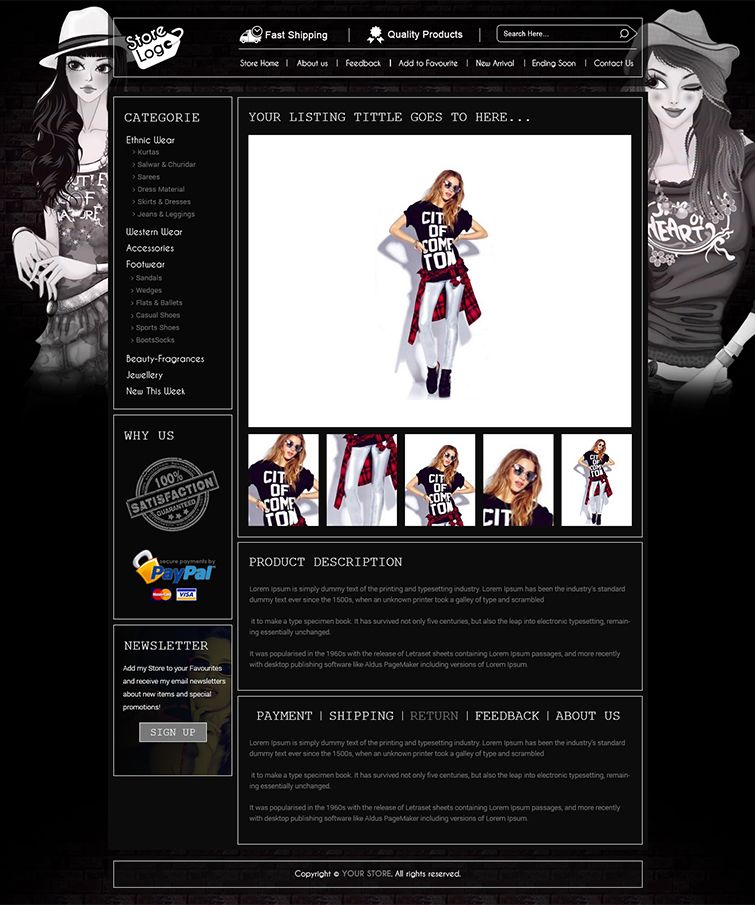 Advance eBay Store Design Template and Listing Auction HTML ...