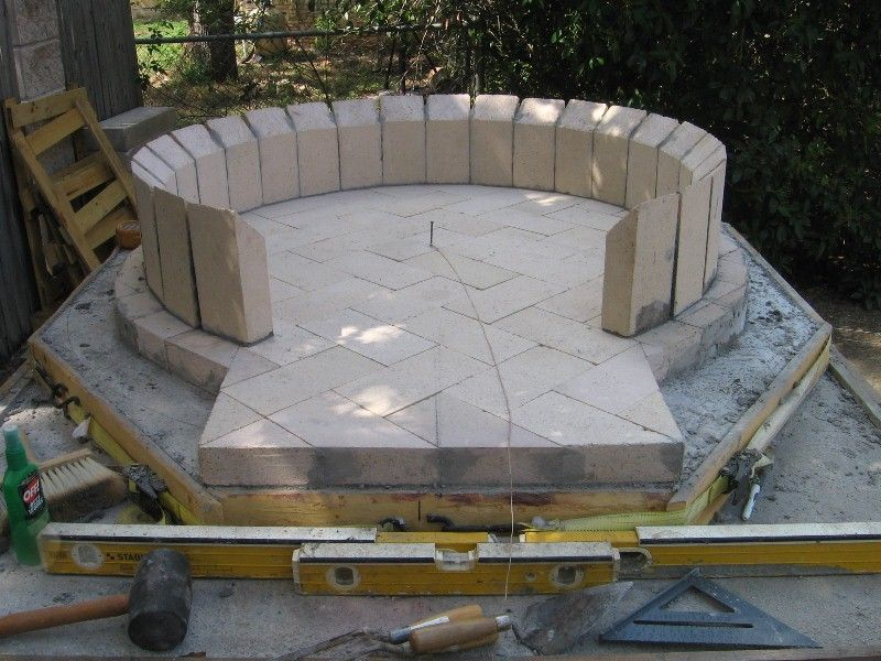 how to build a brick dome pizza oven