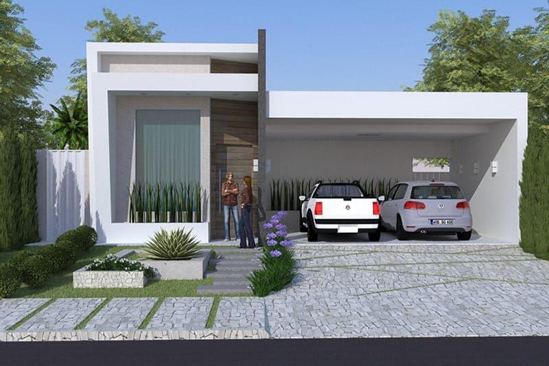 Con una bella fachada moderna pero al mismo tiempo for Plantas de viviendas modernas