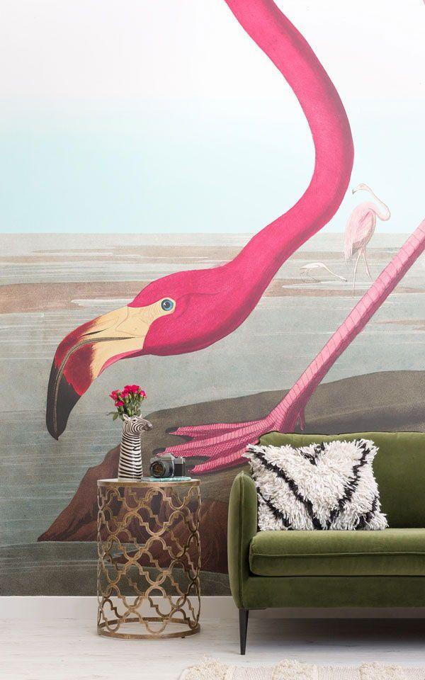 Pink Flamingo Wallpaper Mural Pink flamingo wallpaper