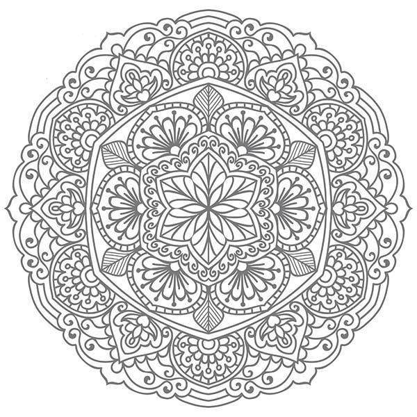 Mandala With Images Coloring Pages Mandala Coloring Adult