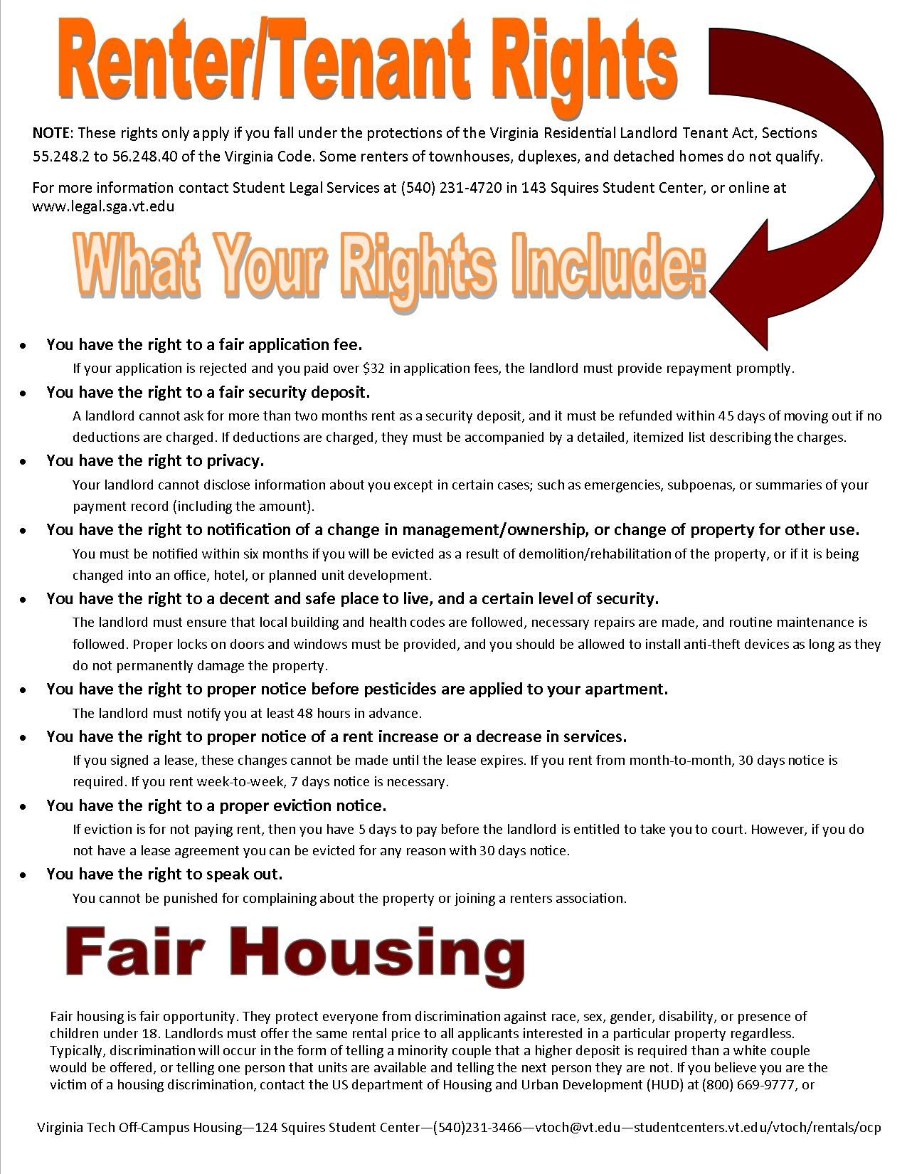 Renter Tenant Rights Being A Landlord Rental Property Management Rental Property Investment