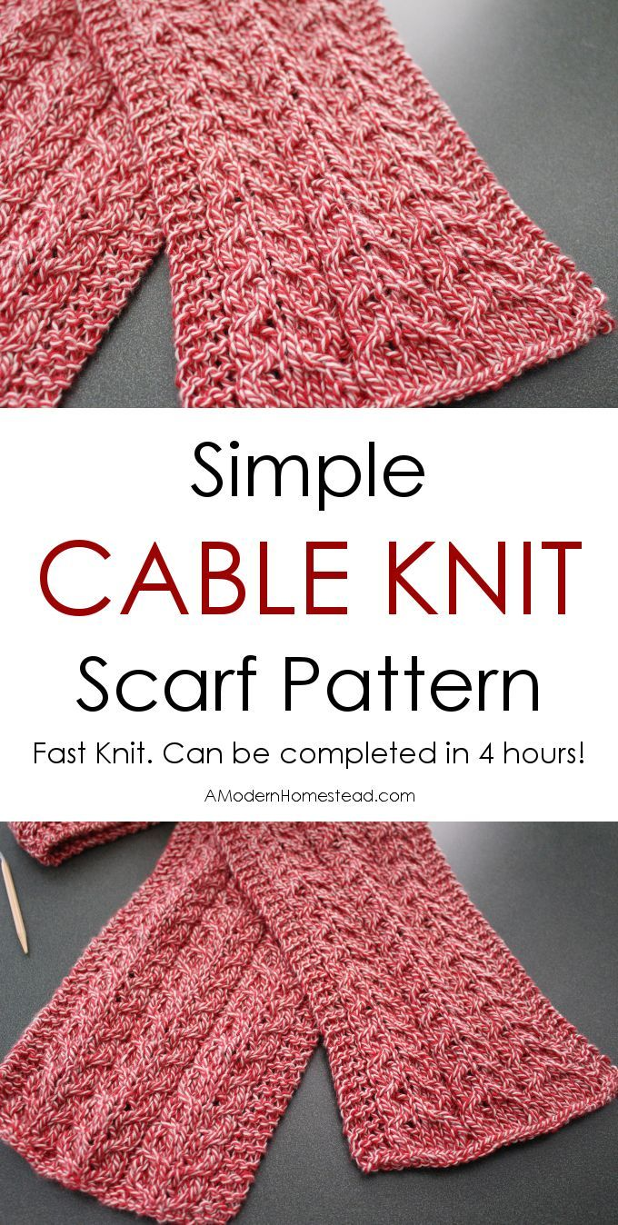 How To Knit A Simple Cable Knit Scarf Hometalk Spring Inspiration