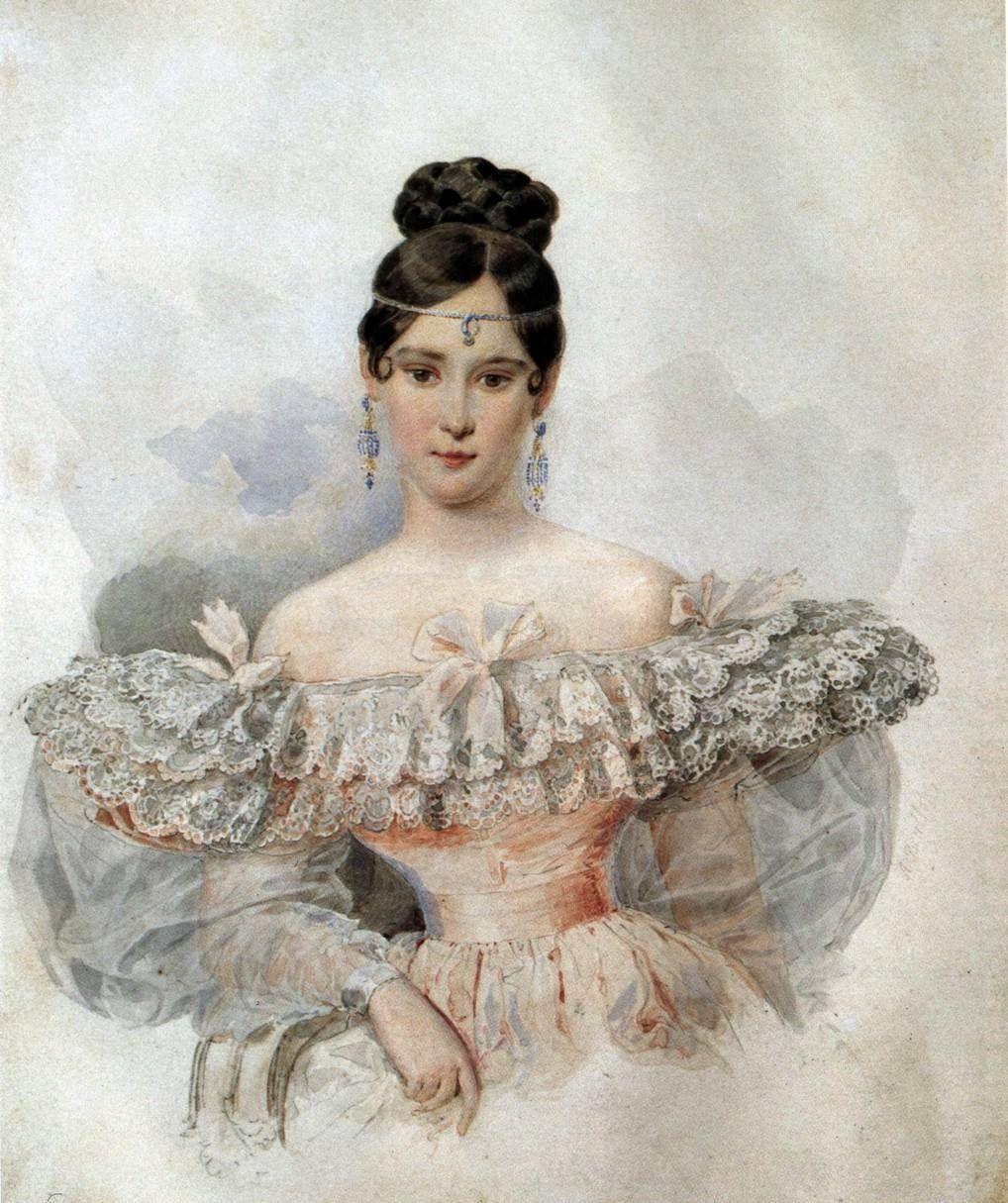 1832 Natalia Pushkina By Karl Brullov Fashion Art Russian Poets