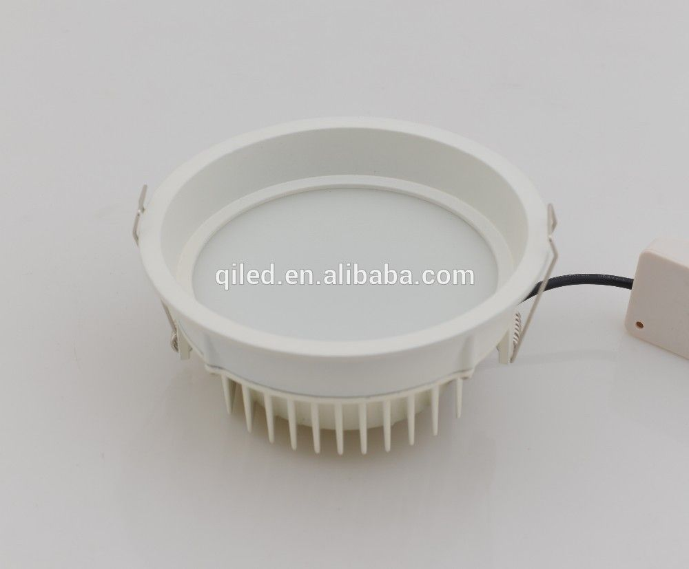 260mm Cutout Round Smd Led Downlight 10 Inch Aluminum Smd Ceiling Light 30w 120 Beam Angle Smd Down Lights Led Down Lights Downlights Ceiling Lights