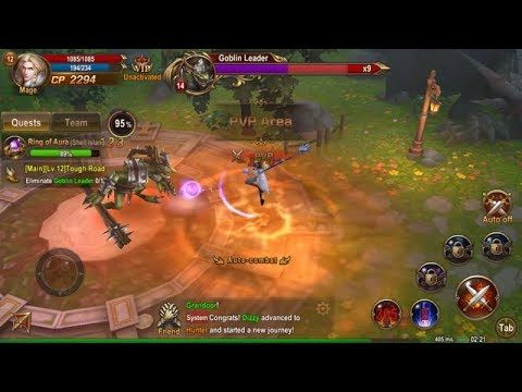 Blades And Rings fantasy 3D MMORPG Android and IOS HD GAMEPLAY